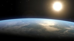 Earth Horizon - stock footage