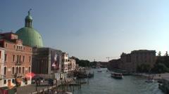 Grand Canal and Chiesa Di San Simeon Stock Footage