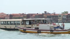 Passenger Ferry in Venice Stock Footage