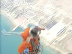 Parachute jump - stock footage