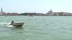Motor Boat in Vence - stock footage