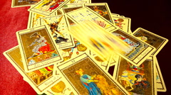 Foreteller Tarot Cards 02 Stock Footage