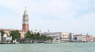 Stock Video Footage of Venice Campanile and Lagoon