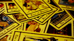 Foreteller Tarot Cards 04 Stock Footage