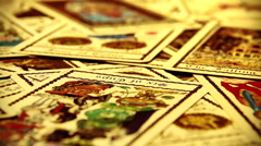 Foreteller Tarot Cards 06 Stock Footage