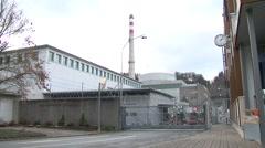 Mühleberg Nuclear Power Plant 3 - stock footage
