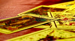 Foreteller Tarot Cards 09 Stock Footage