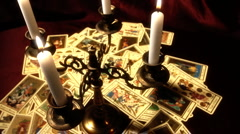 Foreteller Tarot Cards 15 - stock footage