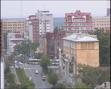 The Streets Of Khabarovsk Stock Footage
