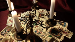 Foreteller Tarot Cards 17 Stock Footage