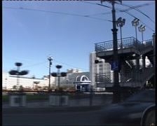 Avenue In Khabarovsk Stock Footage