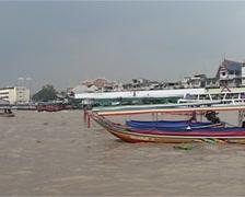 Menam river, boat Stock Footage