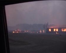 Burning Location Stock Footage