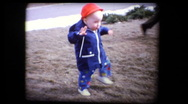 Stock Video Footage of Cute blonde babies first steps