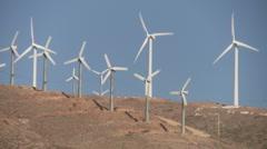 Wind Turbines Rack Focus Stock Footage