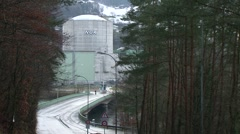 Beznau Nuclear Power Plant 20 Stock Footage