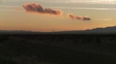 Tehachapi Pass Sunset Stock Footage