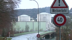 Beznau Nuclear Power Plant 11 Stock Footage
