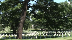 Washington DC Arlington Cemetery (tracking shot) Stock Footage