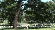 Stock Video Footage of Washington DC Arlington Cemetery (tracking shot)