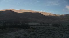 Tehachapi Pass Turbines WS  - stock footage