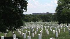 Washington DC Arlington (extreme long shot) - stock footage
