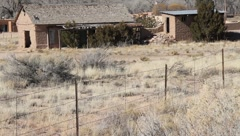 Old Adobe Home - stock footage