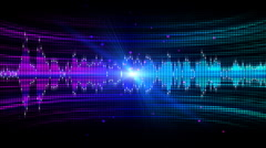 Colorful Audio Frequency Stock Footage