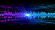 Stock Video Footage of Colorful Audio Frequency