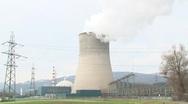Gösgen Nuclear Power Plant 1 Stock Footage