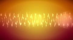 JHD - eMD - Waveform - orange Stock Footage