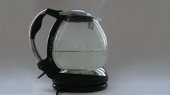 Kettle with boiling water Stock Footage