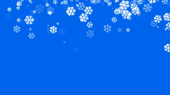 Falling snowflake shaped flower pattern,chrismas,xmas,lace,wedding background. Stock Footage