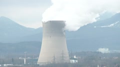 Gösgen Nuclear Power Plant 2 - stock footage