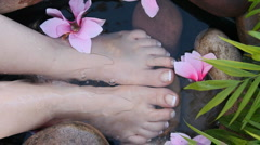 Foot Spa Stock Footage