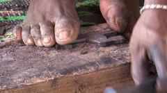 Zanzibar Carpenter Stock Footage