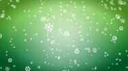 Stock Video Footage of jHD - eMD - Snow Flakes - green