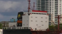 Puerto Rico - Cargo Ship Superstructure HD - stock footage
