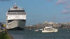 Puerto Rico - Cruise Ship in Old San Juan HD - stock footage