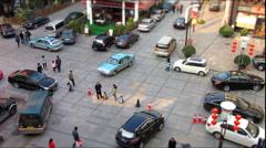 Tilt Shift Cars & Pedestrians  Stock Footage