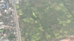 Yangshuo antenni ammuttiin kuumailmapallo tiet kentät Arkistovideo