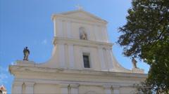 Puerto Rico - HD Cathedral top facade Stock Footage