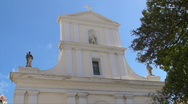 Stock Video Footage of Puerto Rico - HD Cathedral top facade