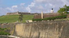 Puerto Rico - HD El Morro Fort and Gun Powder Storage Building Stock Footage