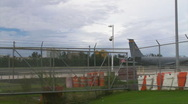 HD KC135 on airport airstrip 2 Stock Footage