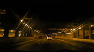 HD Night Driving in Tunnel Stock Footage