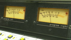 HD Radio Station VU Meters 20 secs Stock Footage