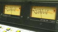Stock Video Footage of HD Radio Station VU Meters 20 secs