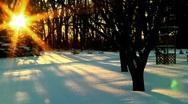 Winter SunLandscape loop Stock Footage