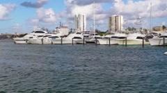 Puerto Rico - People in Jet Ski Marina Cargo Ship HD - stock footage